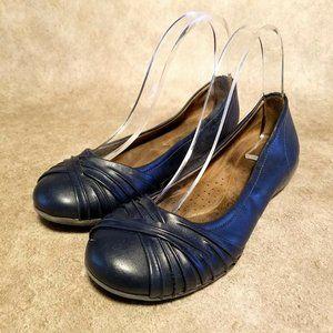 Natural Soul Womens Girly  Sz 7.5 Blue Flats